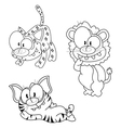 Cartoon big cats vector image