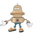 Cartoon character cute robot vector image vector image