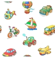 Cartoon collection of Transportation seamless vector image vector image