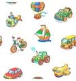 cartoon collection transportation seamless vector image vector image