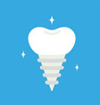 cartoon tooth pin isolated vector image