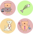 cat valentin day vector image