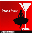 Cocktail Menu Template vector image vector image