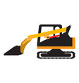 crawler loader vehicle icon vector image vector image