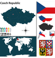 Czech Republic map world vector image vector image