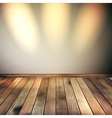 Empty lines wall with 3 spot lights EPS 10 vector image