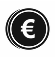 Euro coins icon simple style vector image vector image