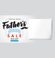 fathers day special offer sale banner light vector image vector image