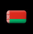 flag of belarus matted icon and button vector image vector image