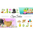 flat spa salon elements collection vector image vector image