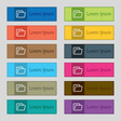 Folder icon sign Set of twelve rectangular vector image vector image