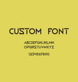 font creative geometric typography for modern vector image