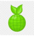 green planet icon cartoon style vector image