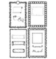 hand drawn design collection with frames vector image