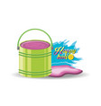 happy holi design vector image vector image