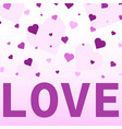 Heart confetti valentines
