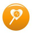 heart icon orange vector image vector image