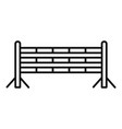 horse jump obstacle icon outline style vector image