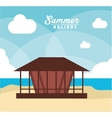 house summer holiday vacation icon graphic vector image