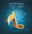 i 3d music note in golden glass on dark blue vector image