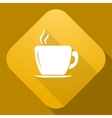 icon of Cup with a long shadow vector image vector image