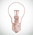 Idea lightbulb sketch on white background