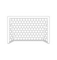 isolated soccer net icon vector image