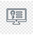 keywords concept linear icon isolated on vector image