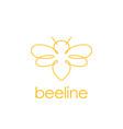 line art bee logo design inspiration vector image