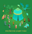 medieval fairy tale isometric vector image