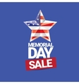 memorial day sale banner vector image vector image