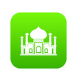mosque icon digital green vector image