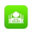 mosque icon digital green vector image vector image