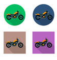 motorcycles icon set in flat style vector image vector image