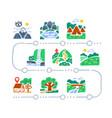 natural landmarks outdoor walking hiking map vector image vector image