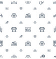newborn icons pattern seamless white background vector image vector image