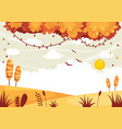 of colorful landscape vector image vector image