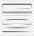 paper banner and dividers realistic 3d transparent vector image vector image
