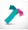 Paper double arrows pink and blue arrow icons