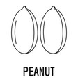 peanut icon outline style vector image vector image
