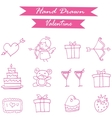 Pink icon valentine day collection vector image