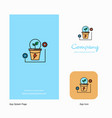 power plant company logo app icon and splash page vector image