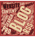 Rss To Blog Pro A 6 Month Review text background vector image vector image