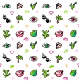 Seamless pattern with fashion patches Pop art vector image