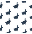seamless texture with rabbits vector image vector image