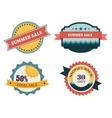 set four retro labels for summer sale vector image