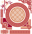 set oriental - chinese - design elements vector image vector image