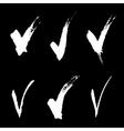set white hand drawn v signs vector image