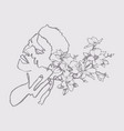 sketchy single line drawing a sensual man vector image vector image
