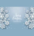 snowflakes nature background vector image vector image